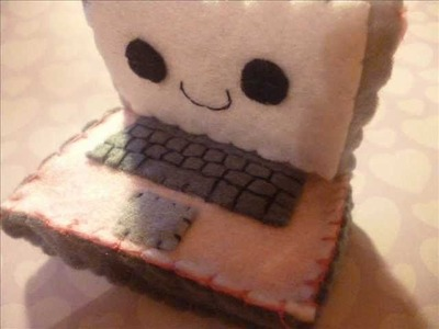 How to Make a Kawaii Laptop Plush from Felt