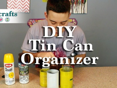 How to Make a Recycled Tin Can Organizer