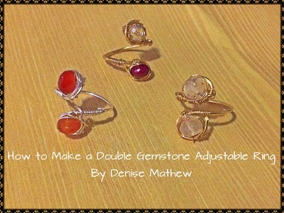 How to Make a Wire Double Gemstone Ring by Denise Mathew