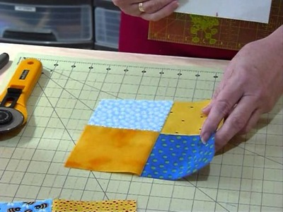 How to make a wonky 4-patch block - Quilting Tips & Techniques 129