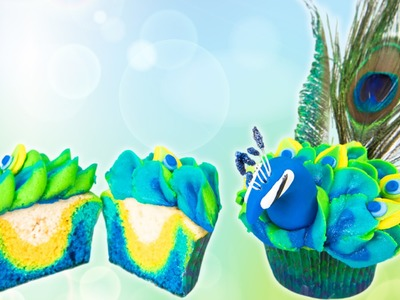 How to Make Peacock Cupcakes & Vidcon Give Away!