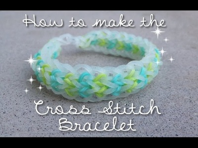 How to make the cross stitch bracelet || NEW DESIGN!