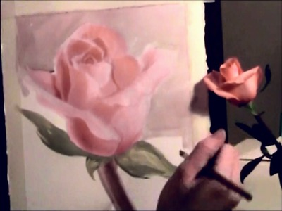 How to paint a rose - water color - guest instructor M Spain