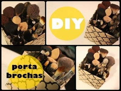 HTM porta-brochas de maquillaje ♡ DIY makeup brush holder