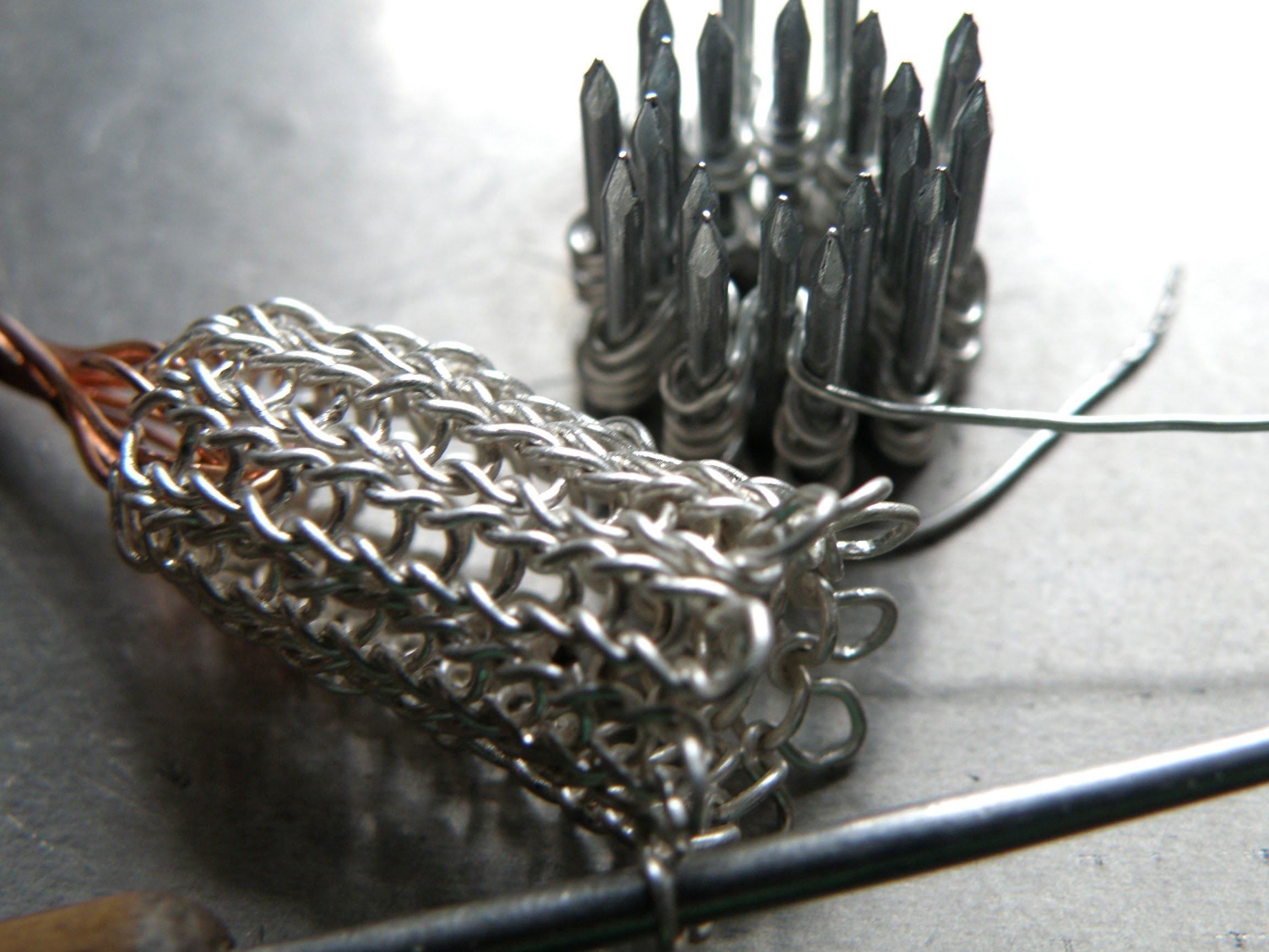 Jewellery making medieval foxtail chains Fuchsschwanzkette