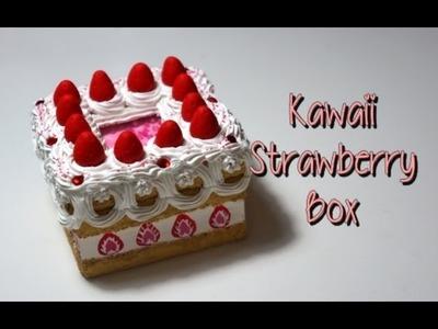 Kawaii Strawberry Cake Box