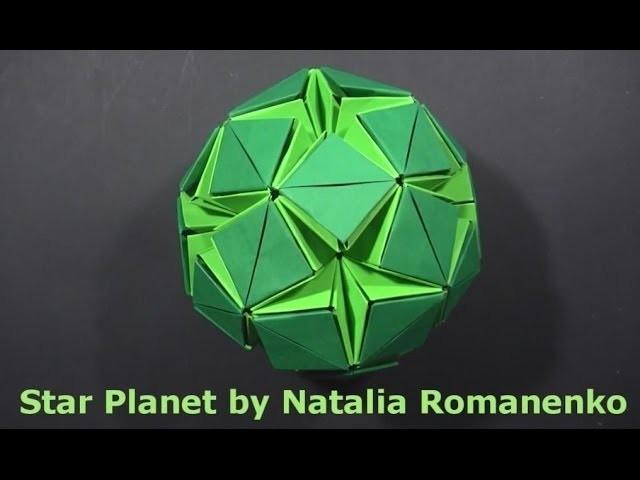 Kusudama Star Planet & Stellar Flare by Natalia Romanenko - Yakomoga Origami tutorial