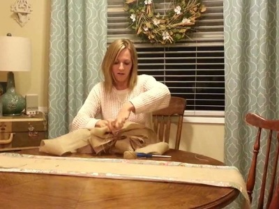 Large Burlap Bow Tutorial by knot too shabby
