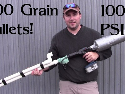 Launching Lead - PVC Air Gun - Part 4 - with Hornady Muzzleloader Bullets!