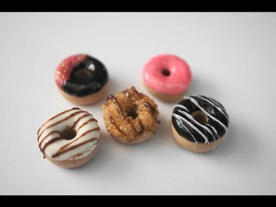 Miniature Doughnut Tutorial, PInk and Brown Doughnut Collection