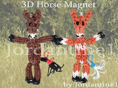 New 3D Horse. Pony Magnet Figure. Charm - Monster Tail or Rainbow Loom