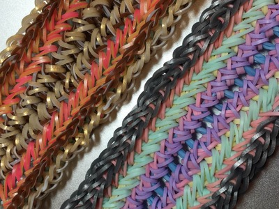 NEW Entwined Crossings Rainbow Loom Bracelet  Design