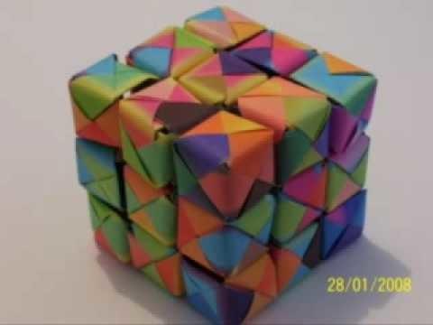 New Origami Rubik's Cube