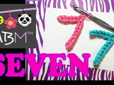 Number Seven #7 Charm Without the Rainbow Loom Tutorial