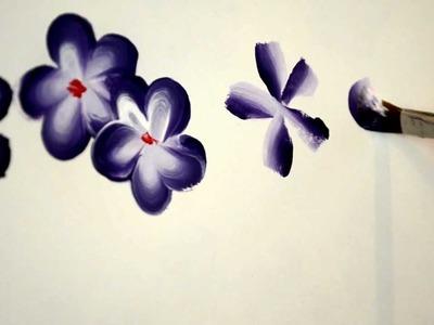 Paint easy 5 petal flowers