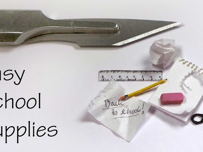 Quick.Easy Miniature School Supplies - Polymer Clay. Mixed Media