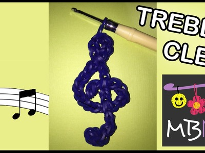 Rainbow Loom Band Treble Clef Charm | Tutorial