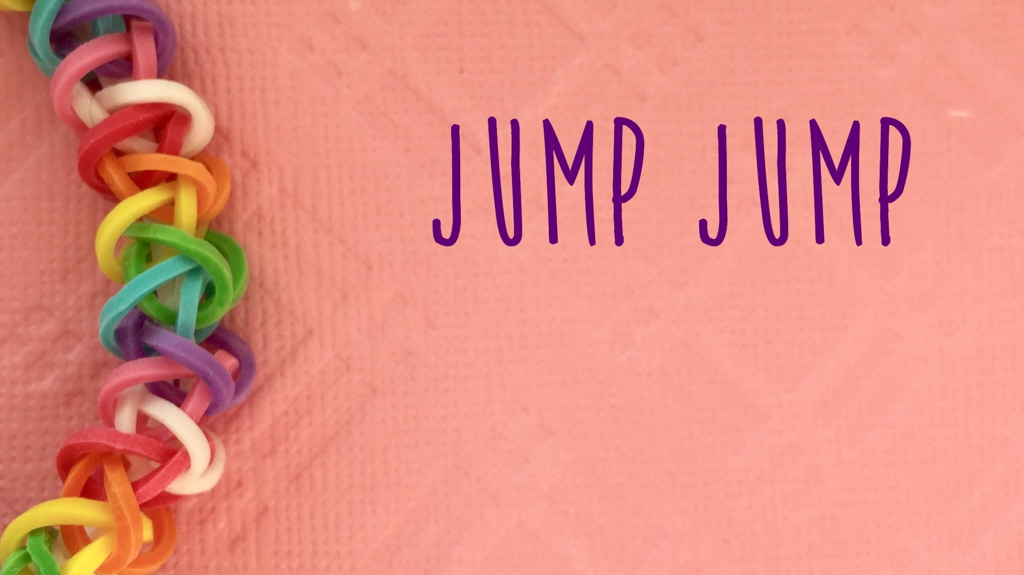 Rainbow Loom Bands Jump Jump Easy Tutorial