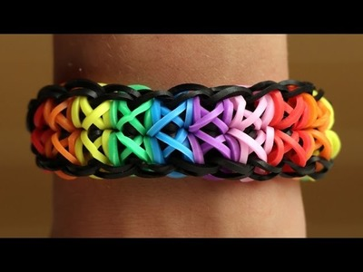 Rainbow Loom English - TOTEMPOLE - Loom Bands, easy, how to, DIY