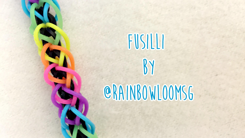 Rainbow Loom: Fusilli Bracelet by RainbowLoomSG (2 Peg, no hook tutorial)