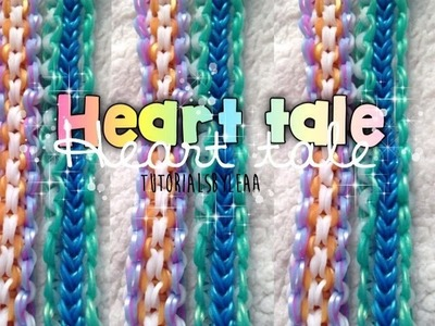 Rainbow loom HEART TALE bracelet tutorial