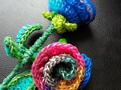 Rainbow loom Rainbow Rose Tutorial Part 1