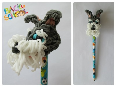 Rainbow Loom schnauzer pencil topper Loombicious