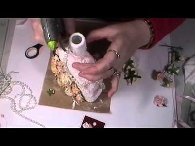 Shabby Chic Altered Bottle part 3