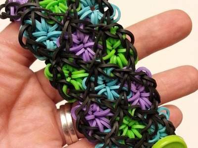 Stained Glass Bracelet Tutorial by feelinspiffy (Rainbow Loom)