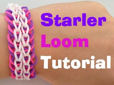 STARLER (Original Design) Rainbow Loom bracelet Tutorial l JasmineStarler