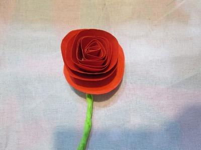 Tutorial de Flor de Cartulina (Muy facil)