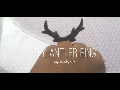 Tutorial - Deer Antler Ring [Polymer Clay]