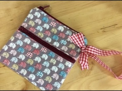 Zippered wristlet sewing tutorial by Debbie Shore