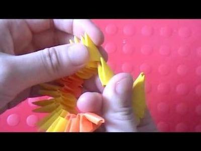 3D origami: koi fish