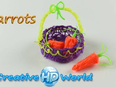 3Doodler: Carrots 3D - How to 3D Printing Pen Creation Tutorial