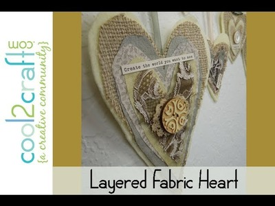 Aleene's Layered Fabric Hearts on Hanger by Tiffany Windsor