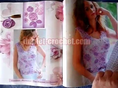 August 2014 Zhurnal MOD 580 Russian crochet patterns from www.duplet-crochet.com