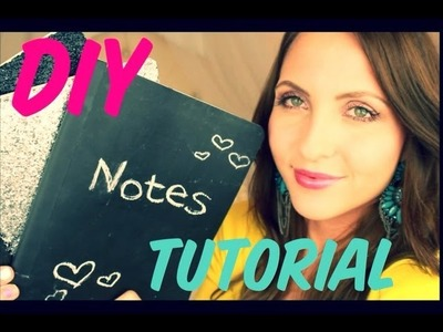 ♡ Back to School ♡ DIY Notebooks & GIVEAWAY ♡