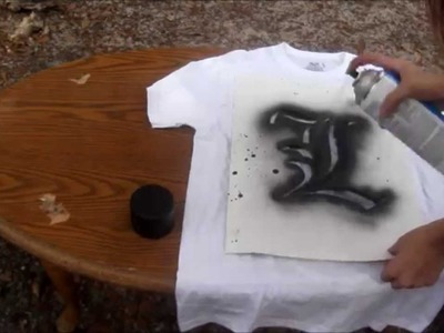 Bleaching And Spray Painting Shirts