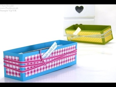 Brights Week Pen Caddy Gift Box by Stampin' Up! UK Independent Demonstrator Pootles