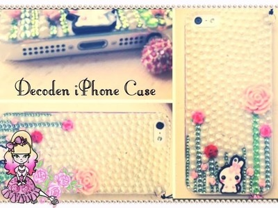 Bunny and Pearl iPhone 5 Case Decoden - Violet LeBeaux