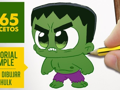 COMO DIBUJAR HULK KAWAII PASO A PASO - Kawaii facil - How to draw Hulk