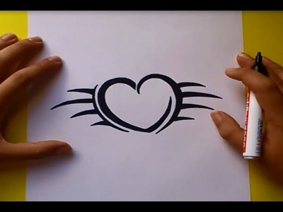 Como dibujar un tribal paso a paso 33   How to draw one tribal 33