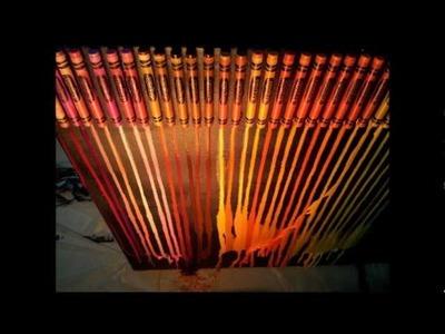 Crayon Melting: Straight Line Melting Tutorial