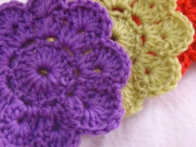 CROCHET COASTER  FLOWER PATTERN