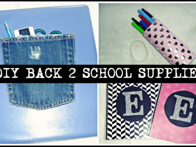 DIY Back 2 School Supplies!