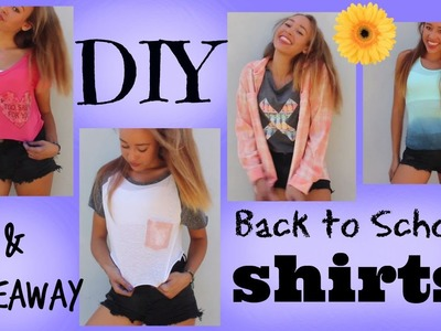 DIY Back to School Shirts & GIVEAWAY - HowToByJordan