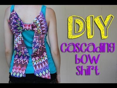 DIY Cascading Bow Shirt    Lucykiins