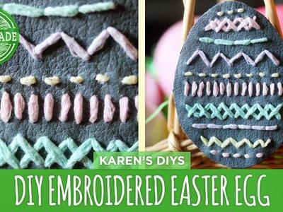 DIY Embroidered Leather Easter Egg - HGTV Handmade