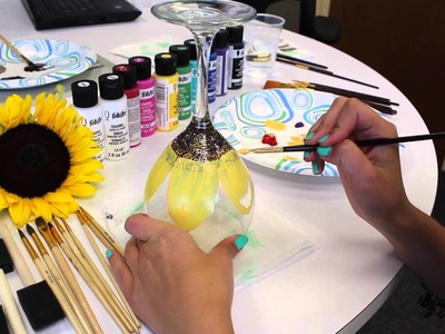 DIY: How to Paint Flowers on Wine Glasses
